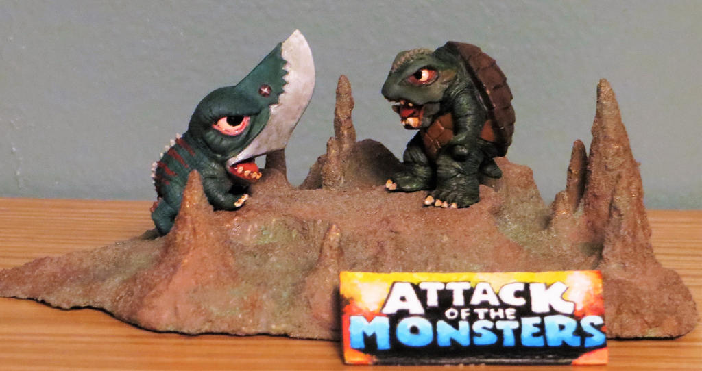 Attack of the Monsters Mini Diorama by Legrandzilla