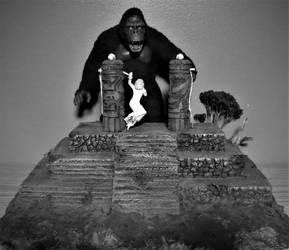 Black and White Kong Altar by Legrandzilla