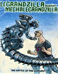 LeGrandzilla Against MechaLeGrandzilla by Legrandzilla