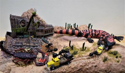 50's Sci Fi Monster Diorama Finished! by Legrandzilla
