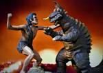 Frankenstein VS Baragon Diorama Video is Up! by Legrandzilla