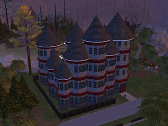 Towered Sims 4 Castle by AlternateReality666