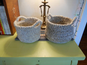 Wool Baskets by GetToTheLibrary