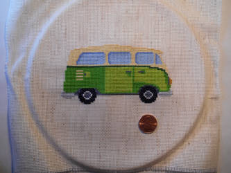 VW Microbus Cross Stitch by GetToTheLibrary