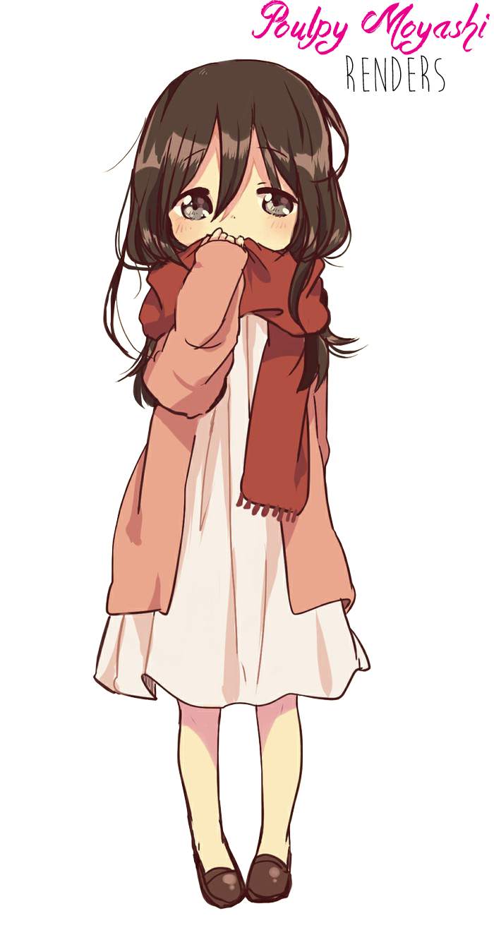 Anime little girl brown hair Render by Poulpy-Moyashi on ...
