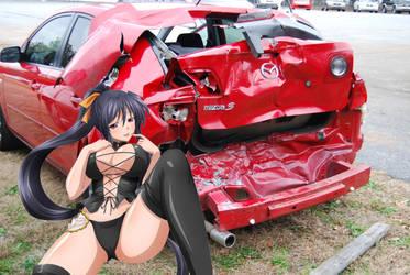 Himejima Akeno been naughty by fatenano