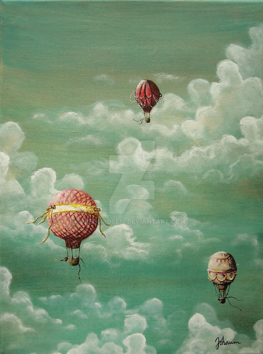 Vintage hot air balloons by NeonRose12 on DeviantArt