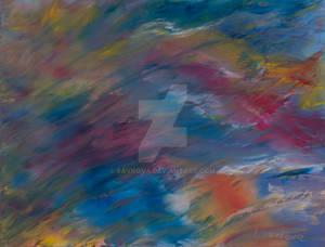 Wind by Savkova - 50x65, white canvas, oil paint