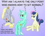 Sittin' like a normal pony