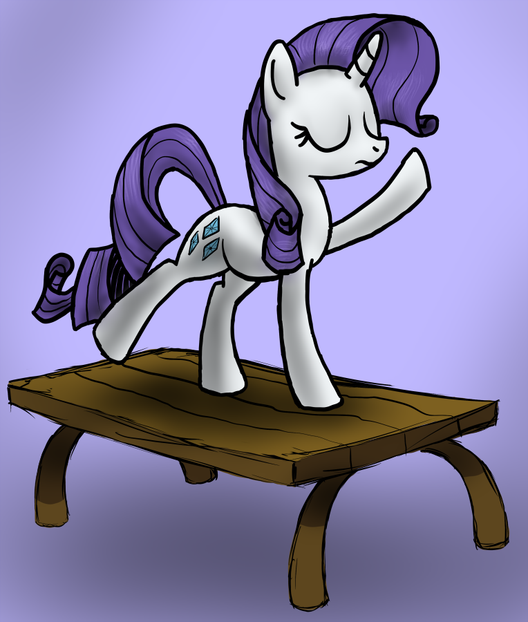 Dance on that table, should come natural to ya by Arrkhal