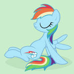 Rainbow Dash sitting around