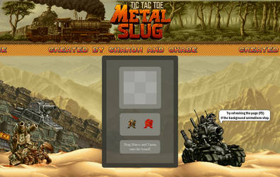 Metal Slug TicTacToe Website by PikKirby