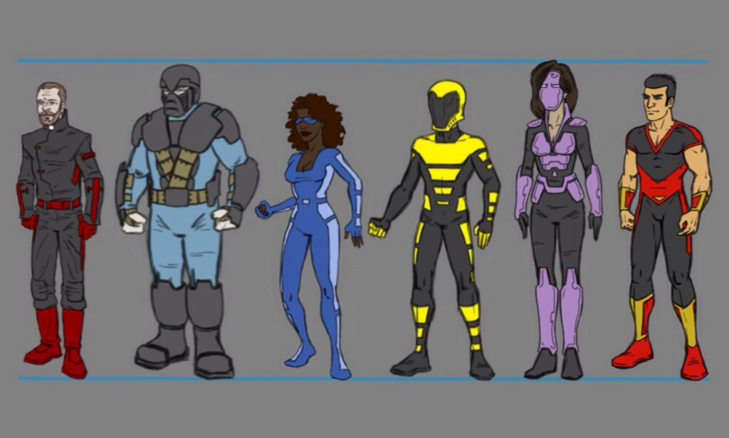 Character Design Lineup : Final character designs in lineup by tim on deviantart
