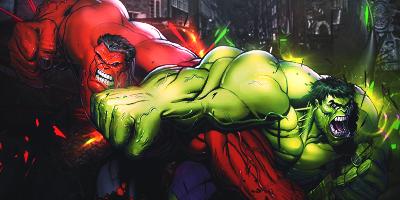 Hulk vs Red Hulk by DaBigBoss93 on DeviantArt