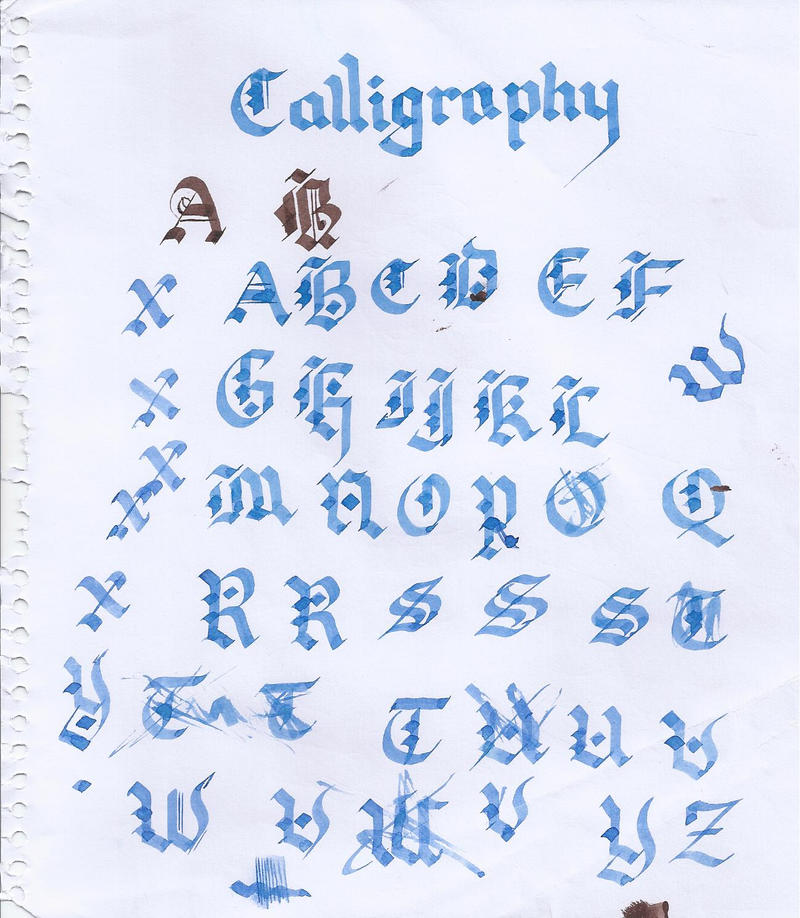 Old English Calligraphy By Urbanpython On Deviantart