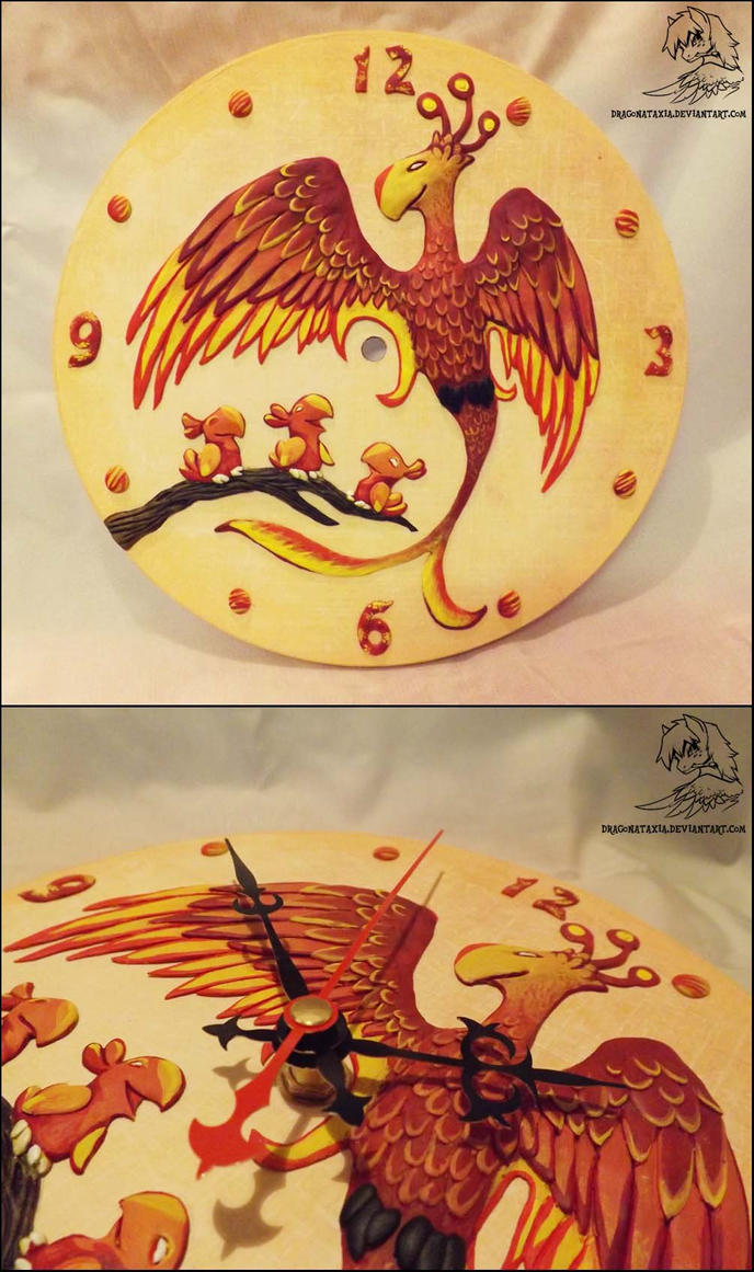 Phoenix clock by DragonAtaxia