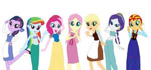 Humane 7 As Disney Princesses