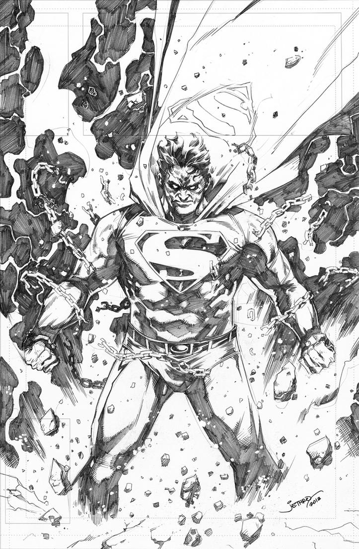 Superman_Unchained_pinup sample by jetzun