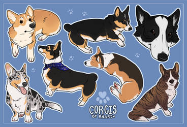 Corgi-StickerSheet