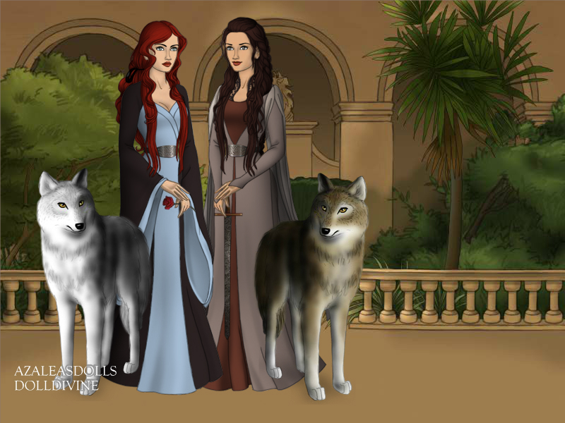 Sansa and Arya Stark by BlackRoseOfSummer
