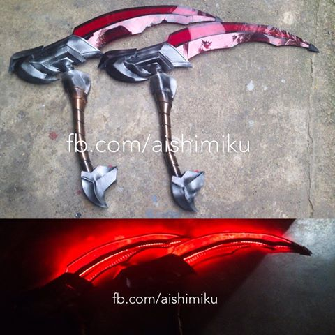 Headhunter Akali Cosplay Set by aishicosplay
