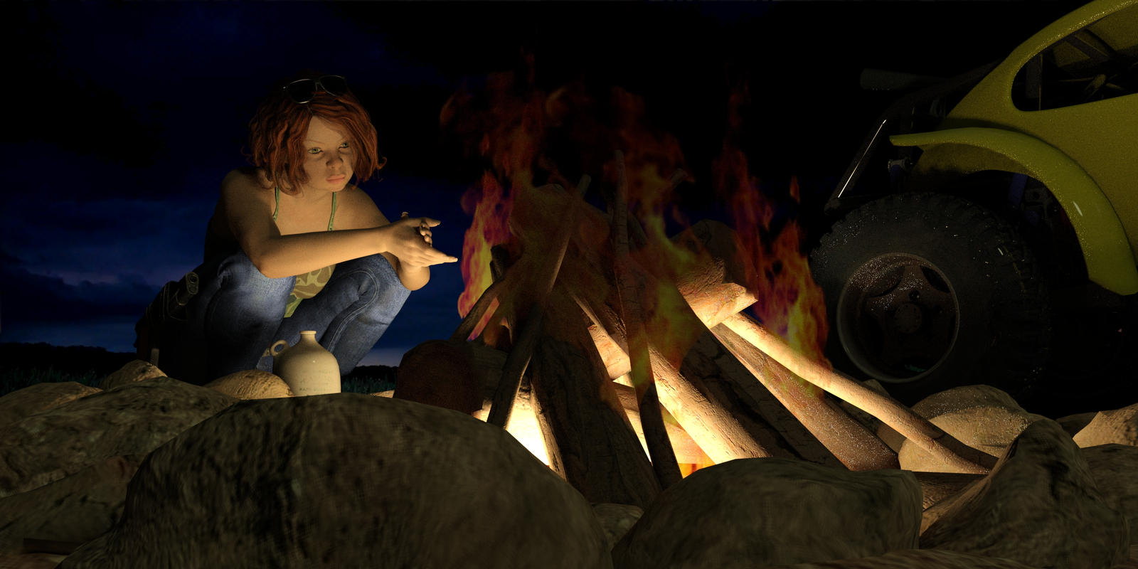 SexyRoxy The Hunters Campfire 002 by thomvinson
