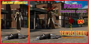 Daxima vs Crimson Shield 001 by thomvinson