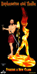 Hephaestus and Thalia 001 by thomvinson