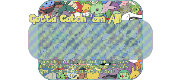 FREE-TO-USE Pile of Pokemon Template by Gleekabel