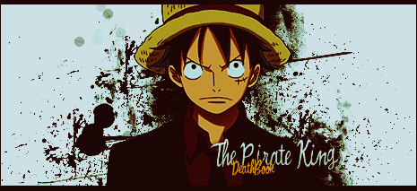 Monkey D Luffy Signature Pirate King By Deathb00k On