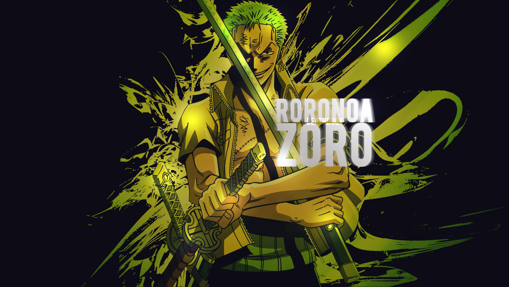 roronoa zoro wallpaper 2 by deathb00k on deviantart