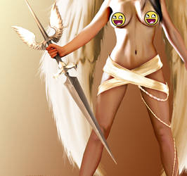 Goddess Of Angels Zoomed by wakamite