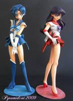 Sailor Mercury and Mars Set by Pyramidcat