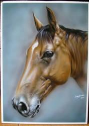 Aibrushed Horse by BleedingBlack666