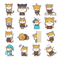Anicon - Animal Complex - Cat Sticker by muhoho-seijin