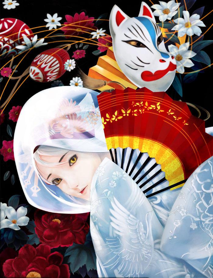 White-Fox by muhoho-seijin