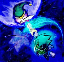 Emperor Neo VS Kirby by aru0