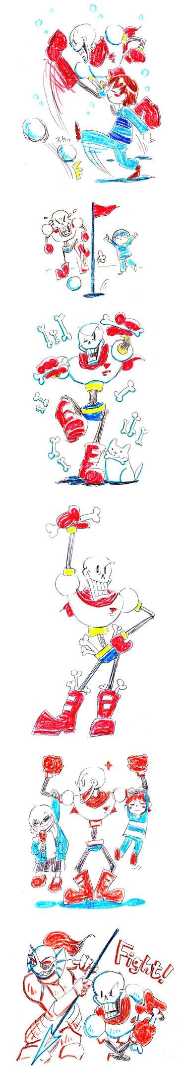 Papyrus and friends by aru0