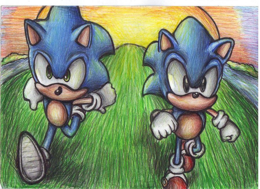 Keep on running Hedgehog by supersonicartdrawer