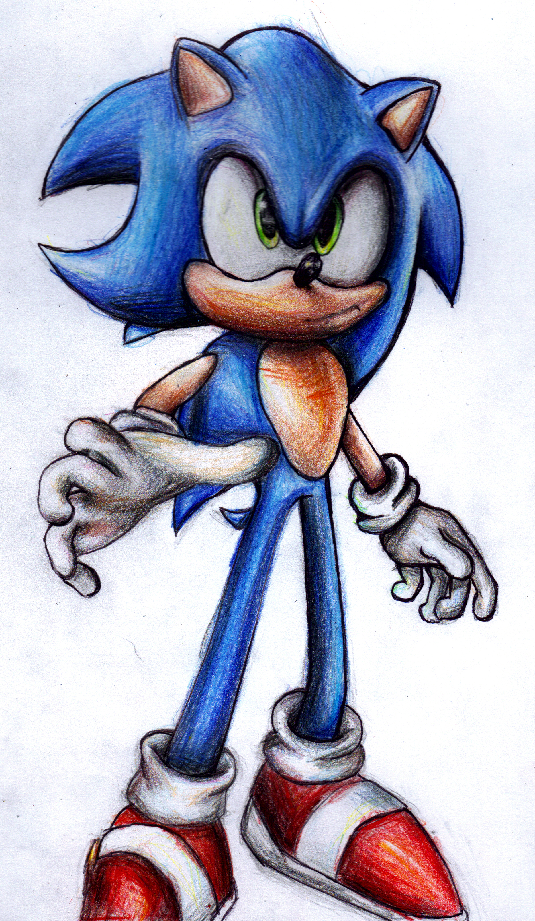 BAD Sonic Pencil Drawing by supersonicartdrawer