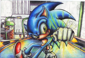 Up and down and AALLLL AROUUUND WIP Colored Pencil by supersonicartdrawer