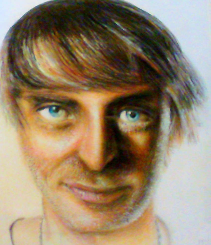 David Guetta Coloured Pencil Portrait by supersonicartdrawer