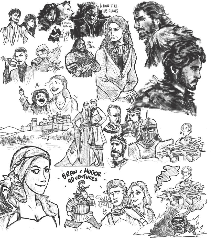 Game of Thrones Sketchdump by SleepyClouds