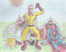 Saitama kill goku superman with one punch man