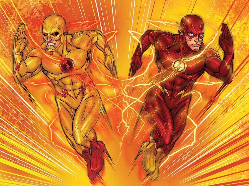 Flash Vs Reverse Flash Wallpaper: The Flash Vs Reverse Flash By RIVOLUTION On DeviantArt