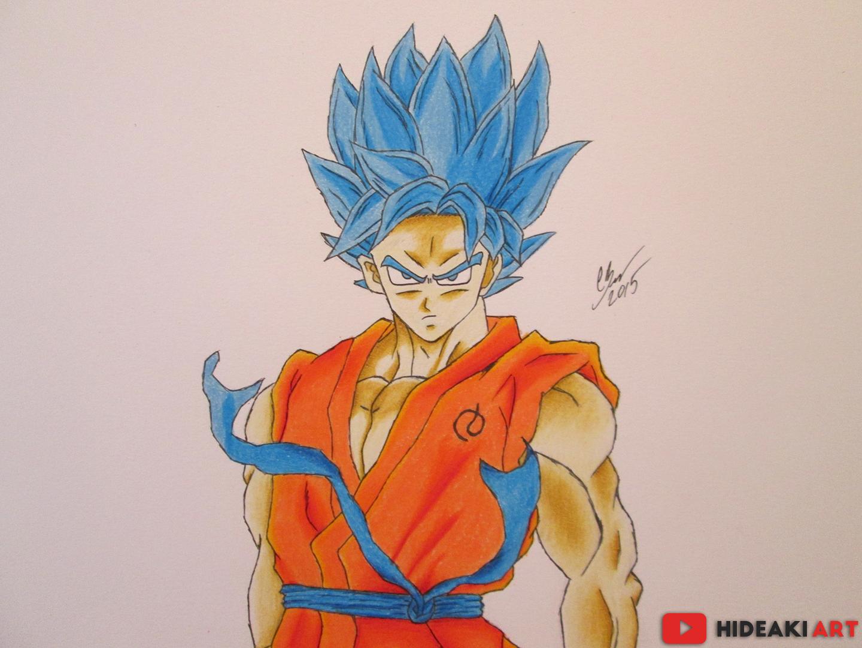 Goku Ssj Dios F Para Colorear Goku Ssj Dios F Para Imprimir: SSJ God SS Goku (DBZ: Fukkatsu No F) By HideakiArtReal On