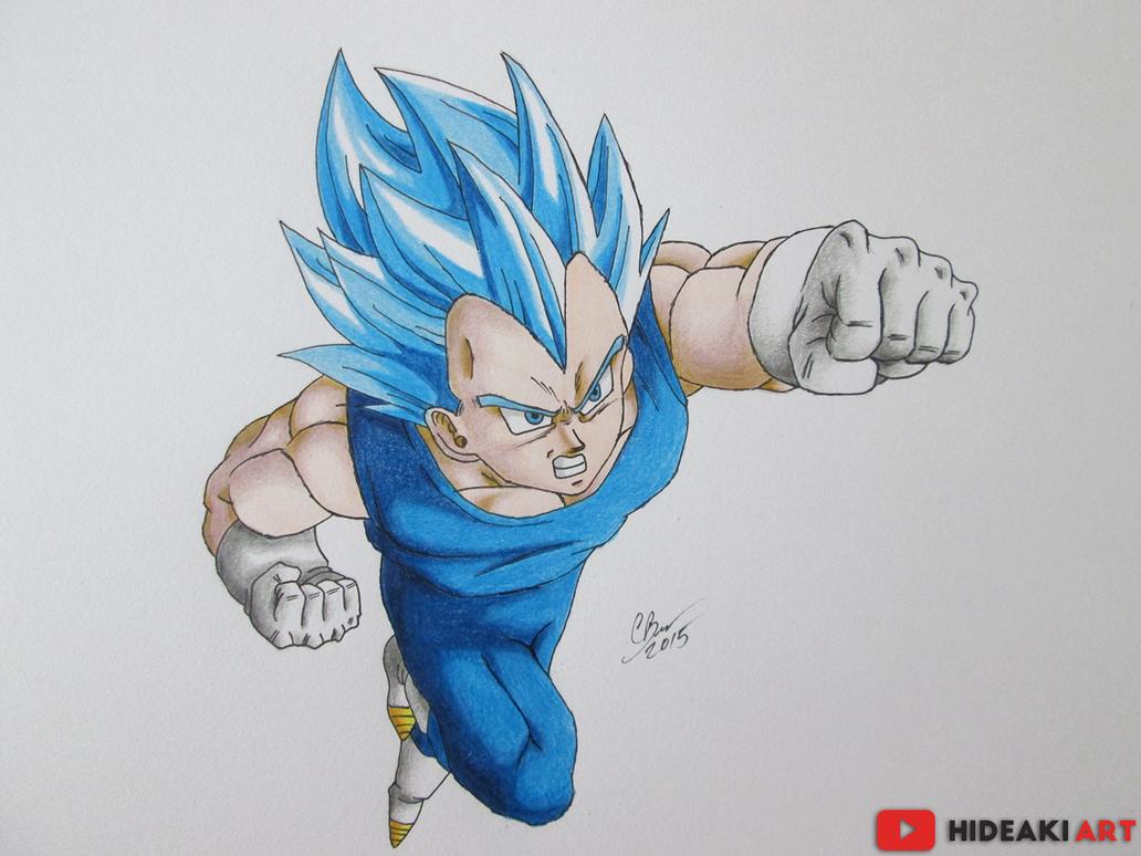 Goku Ssj Dios F Para Colorear Goku Ssj Dios F Para Imprimir: SSJ God SS Vegeta (DBZ: Fukkatsu No F) By HideakiArtReal
