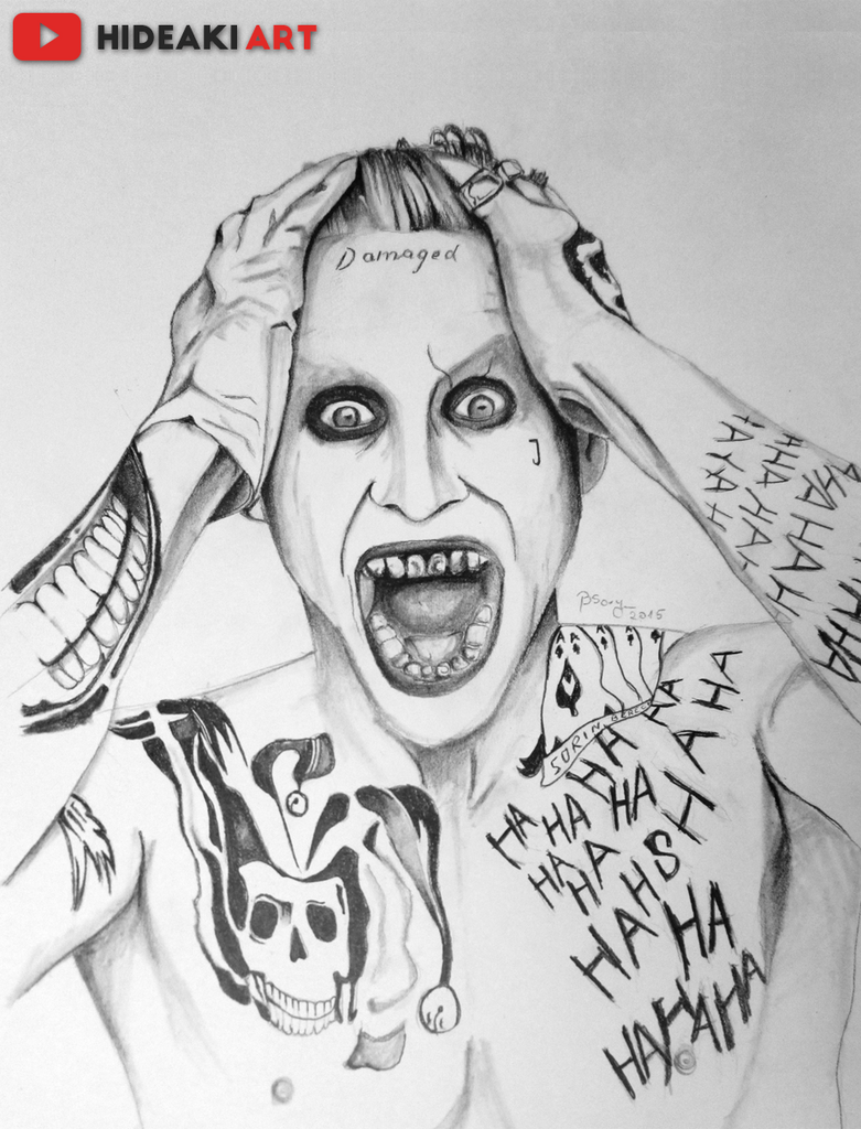 joker coloring pages suicide squad - jared leto 39 s joker suicide squad by hideakiartreal on