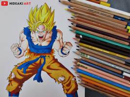 SSJ Goku || Dragon Ball Z by HideakiArtReal