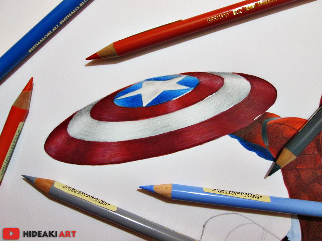 Captain America Shield Drawing: Captain America's Shield